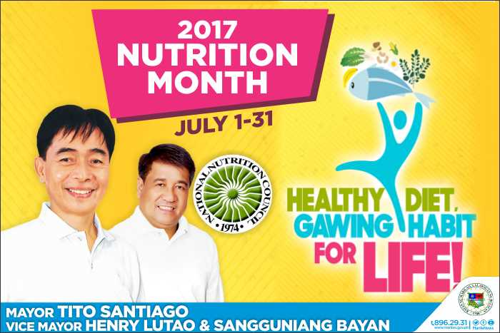 2017 Nutrition Month July 1 31